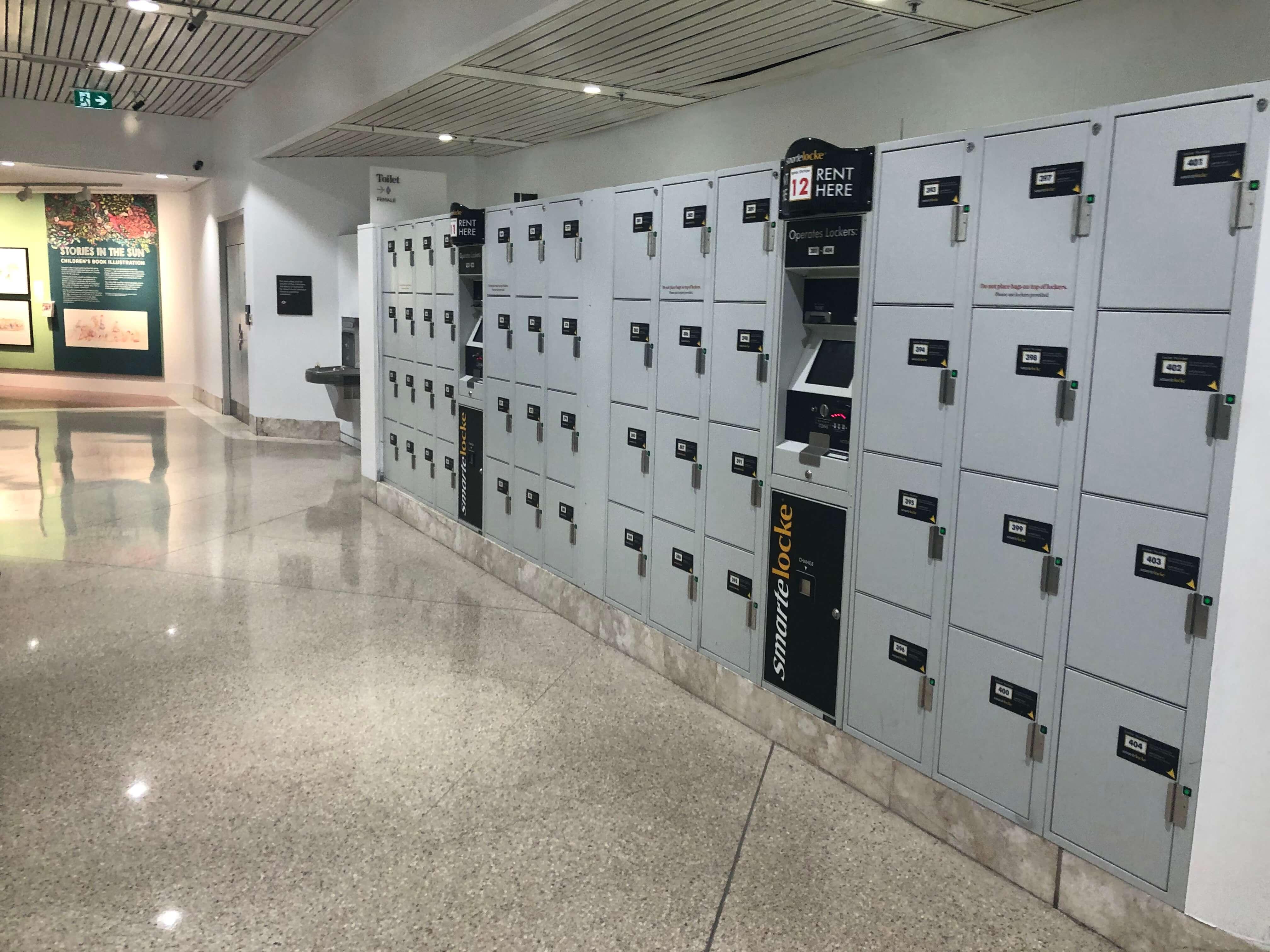 シドニー州立図書館の新館のロッカールーム