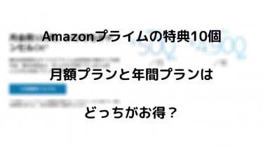 Amazonプライムの特典10個 月額プランと年間プランは とっちがお得?